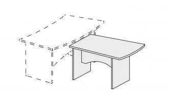 Стол приставной СП 125-9