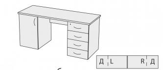 Стол с тумбами СТШ 16-6 Д L/R